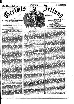 Berliner Gerichts-Zeitung vom 05.05.1859