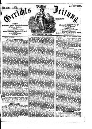 Berliner Gerichts-Zeitung vom 07.05.1859