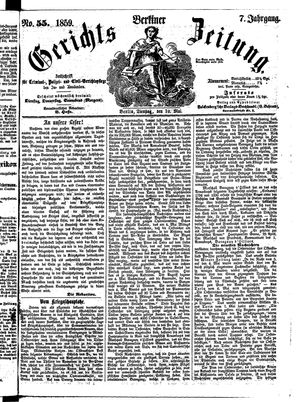 Berliner Gerichts-Zeitung vom 10.05.1859