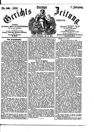 Berliner Gerichts-Zeitung vom 12.05.1859