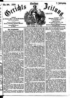 Berliner Gerichts-Zeitung vom 17.05.1859
