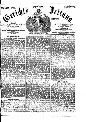Berliner Gerichts-Zeitung vom 21.05.1859