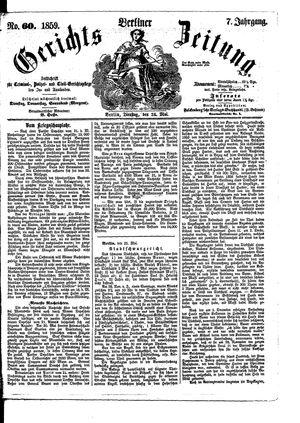 Berliner Gerichts-Zeitung on May 24, 1859