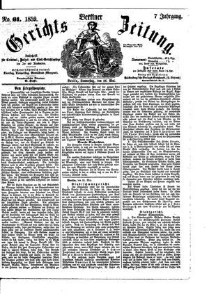 Berliner Gerichts-Zeitung vom 26.05.1859