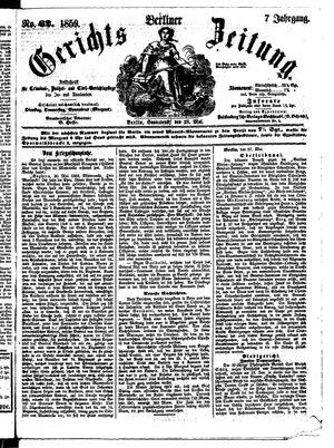 Berliner Gerichts-Zeitung vom 28.05.1859