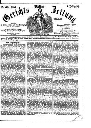 Berliner Gerichts-Zeitung vom 31.05.1859
