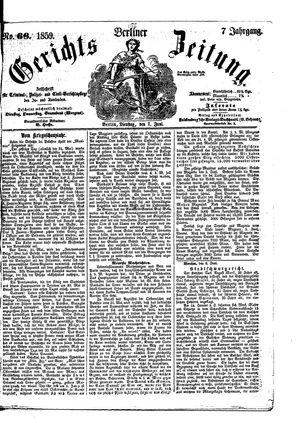 Berliner Gerichts-Zeitung vom 07.06.1859