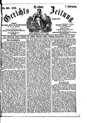 Berliner Gerichts-Zeitung on Jun 11, 1859
