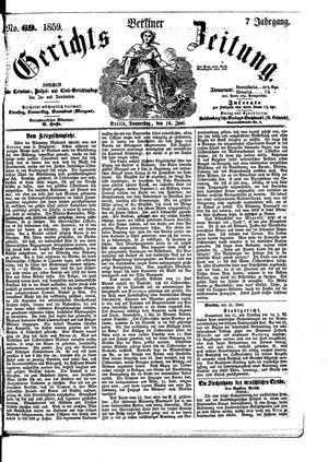 Berliner Gerichts-Zeitung vom 16.06.1859