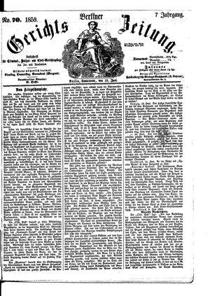 Berliner Gerichts-Zeitung vom 18.06.1859
