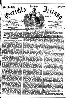 Berliner Gerichts-Zeitung vom 23.06.1859