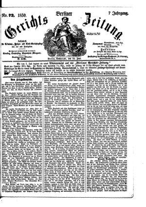 Berliner Gerichts-Zeitung vom 25.06.1859