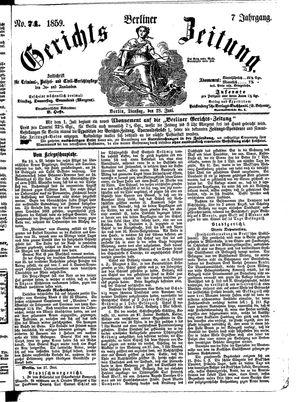 Berliner Gerichts-Zeitung vom 28.06.1859
