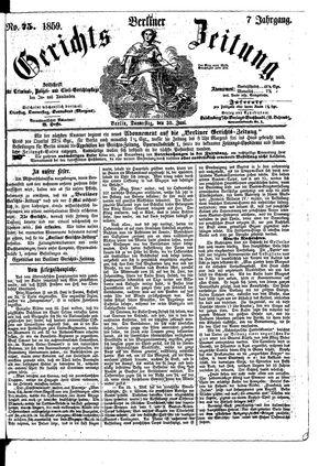 Berliner Gerichts-Zeitung vom 30.06.1859