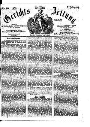 Berliner Gerichts-Zeitung vom 07.07.1859