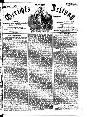 Berliner Gerichts-Zeitung vom 12.07.1859