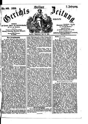 Berliner Gerichts-Zeitung vom 16.07.1859
