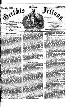 Berliner Gerichts-Zeitung vom 19.07.1859