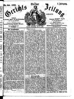Berliner Gerichts-Zeitung vom 21.07.1859