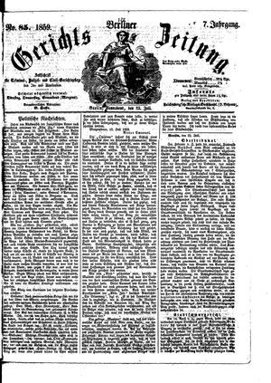 Berliner Gerichts-Zeitung on Jul 23, 1859