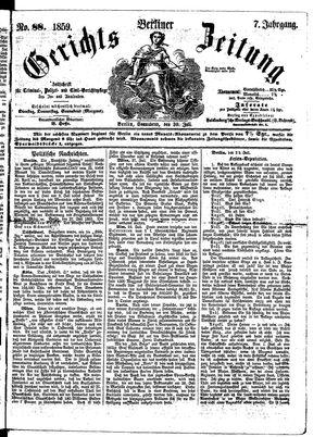 Berliner Gerichts-Zeitung vom 30.07.1859