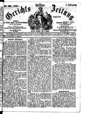 Berliner Gerichts-Zeitung vom 01.08.1859