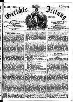 Berliner Gerichts-Zeitung vom 04.08.1859