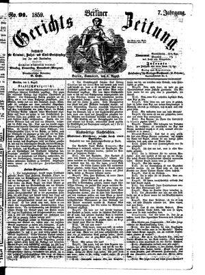 Berliner Gerichts-Zeitung vom 06.08.1859