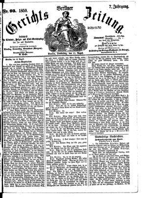 Berliner Gerichts-Zeitung vom 11.08.1859
