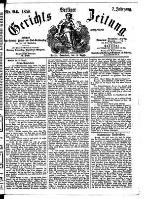 Berliner Gerichts-Zeitung vom 13.08.1859