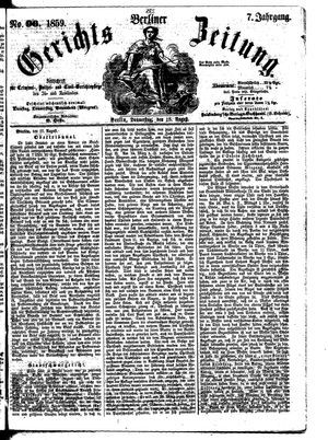 Berliner Gerichts-Zeitung vom 18.08.1859