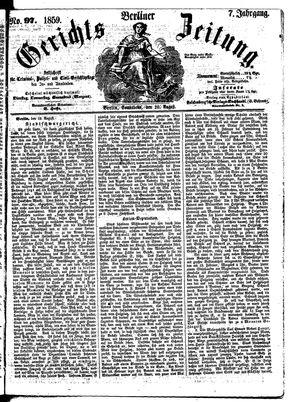 Berliner Gerichts-Zeitung vom 20.08.1859