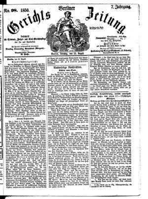 Berliner Gerichts-Zeitung vom 23.08.1859