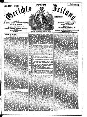 Berliner Gerichts-Zeitung vom 25.08.1859