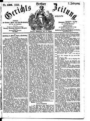 Berliner Gerichts-Zeitung vom 27.08.1859