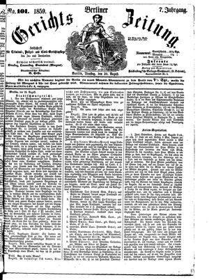 Berliner Gerichts-Zeitung vom 30.08.1859