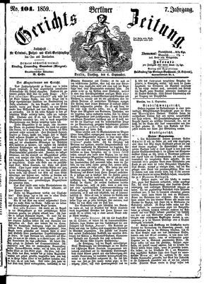 Berliner Gerichts-Zeitung vom 06.09.1859