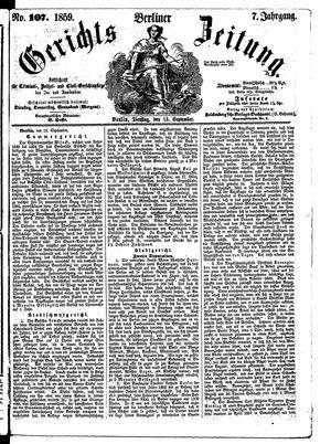 Berliner Gerichts-Zeitung vom 13.09.1859
