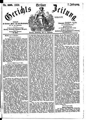 Berliner Gerichts-Zeitung vom 15.09.1859