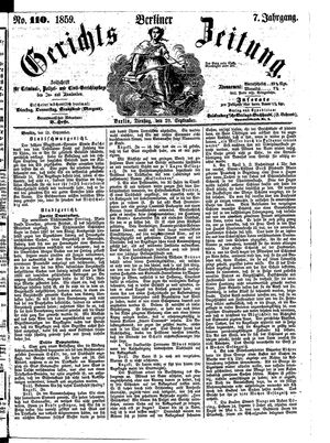 Berliner Gerichts-Zeitung vom 20.09.1859