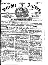 Berliner Gerichts-Zeitung (22.09.1859)