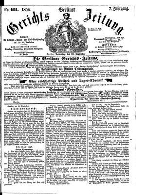 Berliner Gerichts-Zeitung vom 22.09.1859