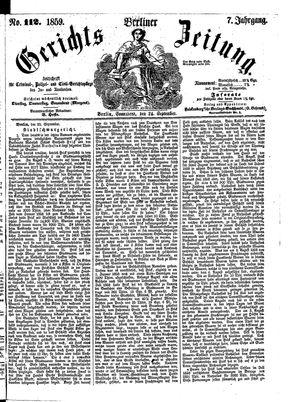 Berliner Gerichts-Zeitung vom 24.09.1859