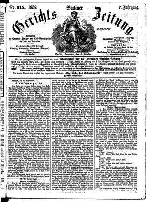 Berliner Gerichts-Zeitung vom 01.10.1859