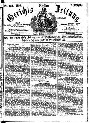 Berliner Gerichts-Zeitung vom 04.10.1859