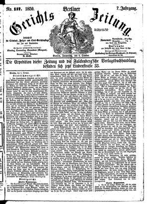 Berliner Gerichts-Zeitung vom 06.10.1859