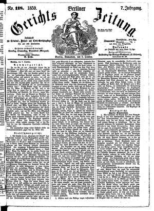 Berliner Gerichts-Zeitung vom 08.10.1859