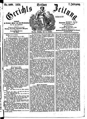 Berliner Gerichts-Zeitung vom 11.10.1859
