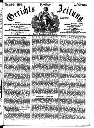 Berliner Gerichts-Zeitung vom 13.10.1859