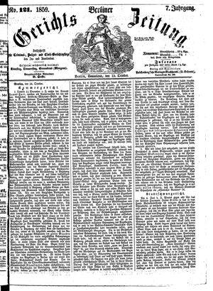 Berliner Gerichts-Zeitung vom 15.10.1859
